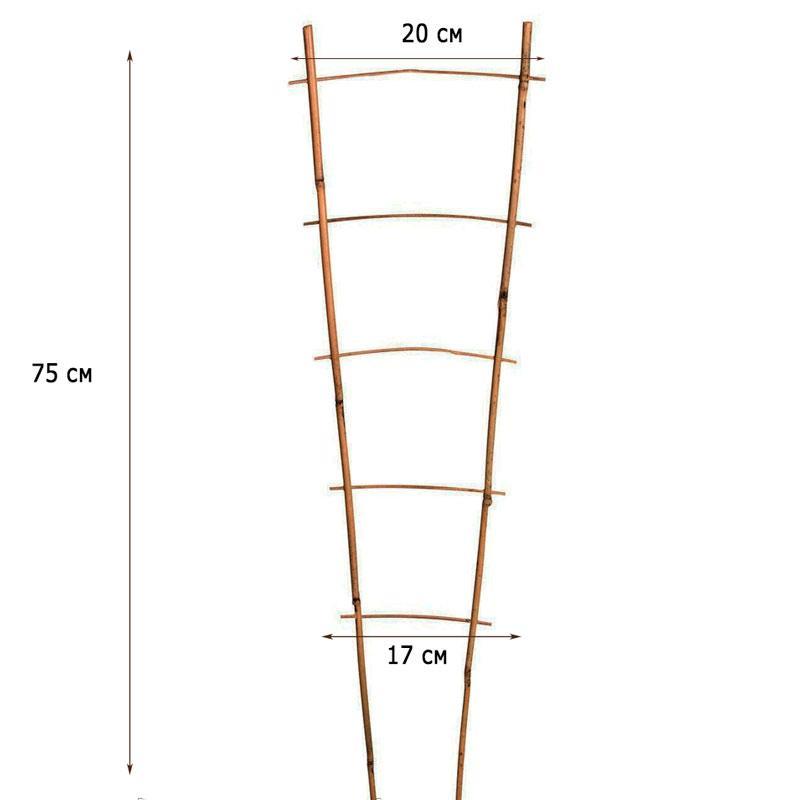 Лестница бамбуковая ZRостай 75 см (S2) N8002