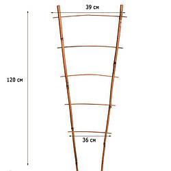 Лестница бамбуковая ZRостай 120 см (S2) N8004