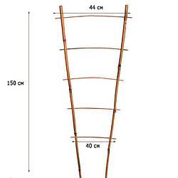 Лестница бамбуковая ZRостай 150 см (S2) N8005