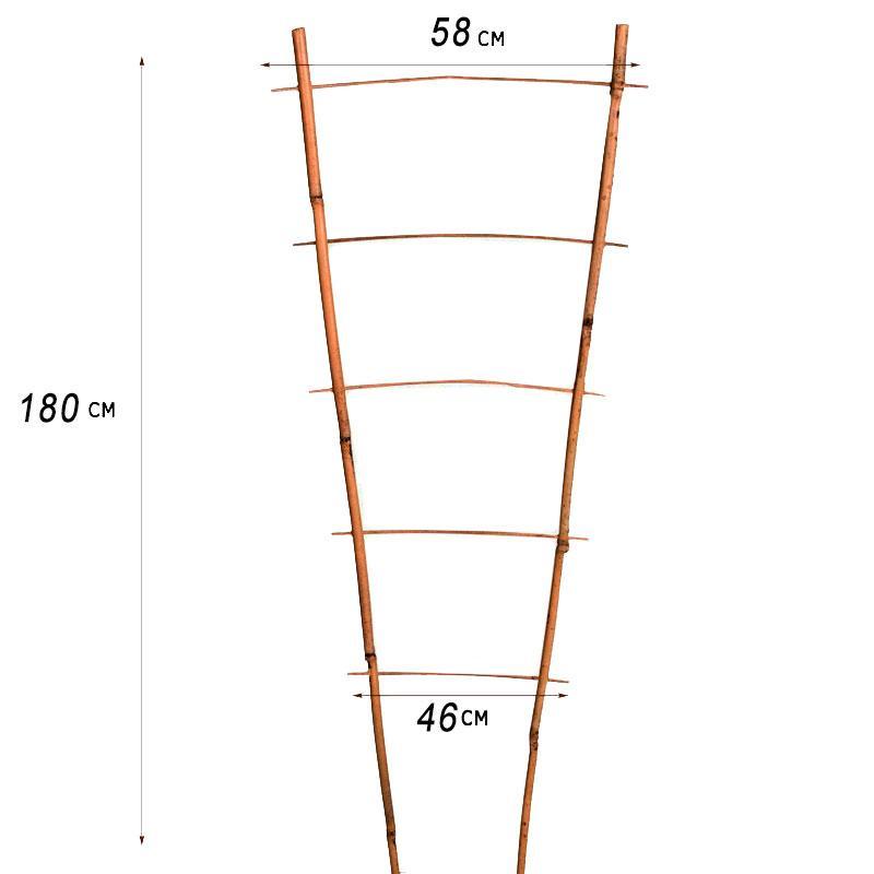 Лестница бамбуковая ZRостай 180 см (S2) N8006