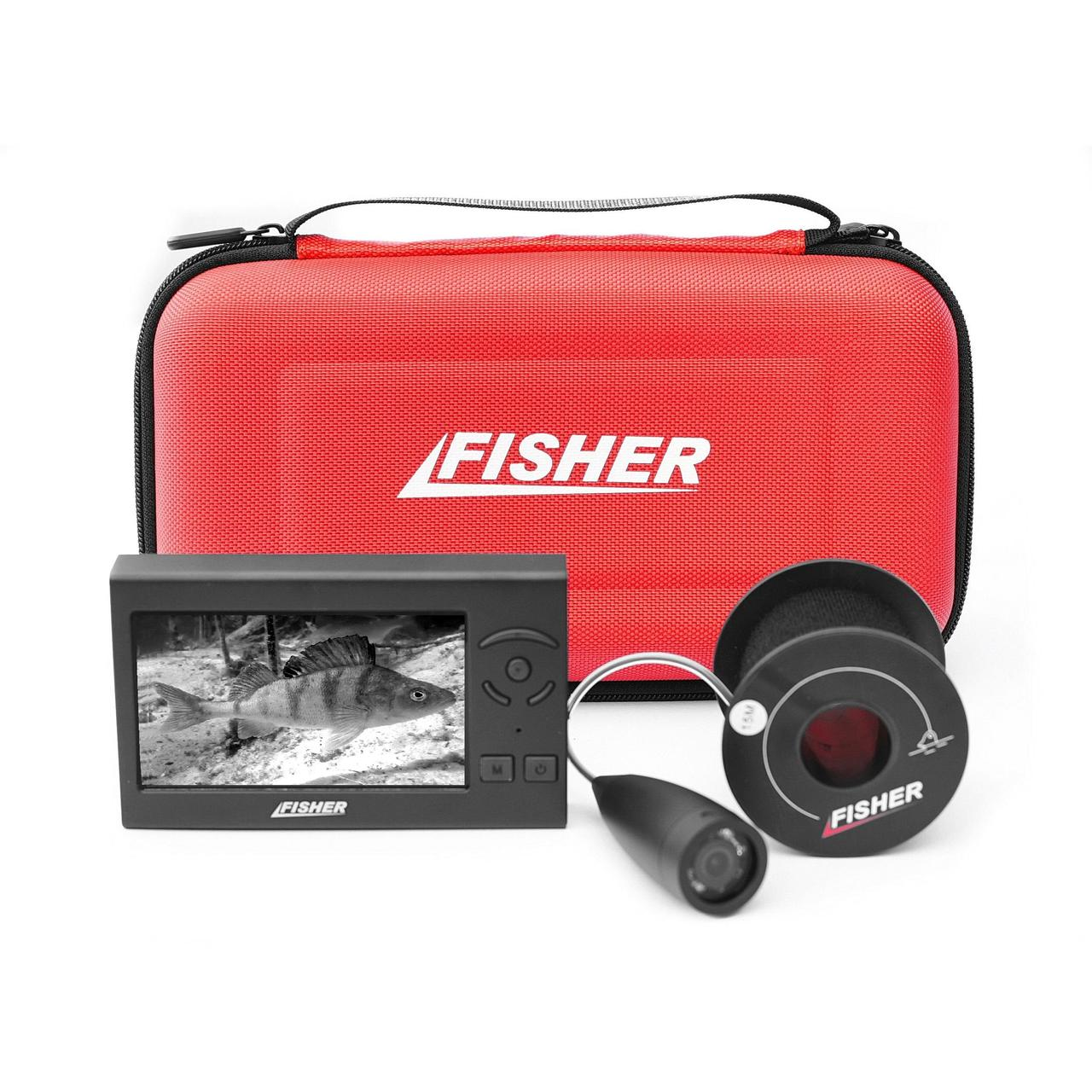 Подводная камера для рыбалки Fisher F430 в чехле 15м