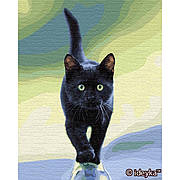 Картина по номерам Идейка Кошачья грация 40*50 см (без коробки) арт.KHO4206