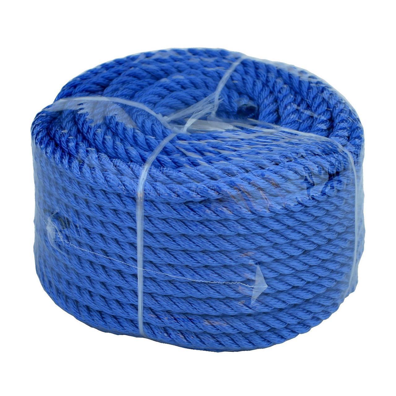 Веревка 30м 10мм синяя полиэстер универсальная twisted rope 10х30 b