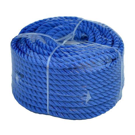 Веревка 30м 10мм синяя полиэстер универсальная twisted rope 10х30 b, фото 2