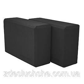 Блок для йоги 2 шт SportVida Black SKL41-277651