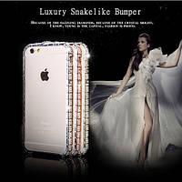 "Бампер металлический со стразами на Apple iPhone 6 plus (5.5"") Gold SWAROVSKI"