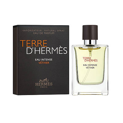Чоловічі духи Гермес мініатюра 12,5 мл Terre d'hermes Eau Intense Vetiver парфумована вода, деревний аромат