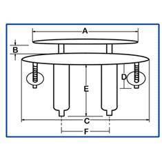 Качка швартовая, прихована 150мм х 40мм H0009B, фото 2