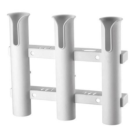 Тримач для 3-ох вудок, пластиковий, білий C12731-S, фото 2