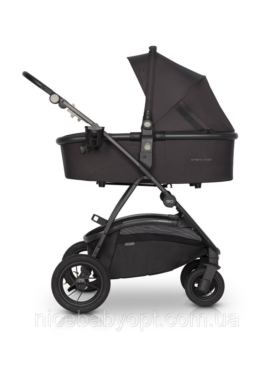 Дитяча універсальна коляска 2в1 EasyGo Optimo Air Basalt