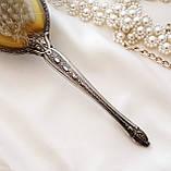 Старинная посеребренная щетка для волос, щетка с ручкой, серебрение, Англия, винтаж, фото 9