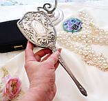 Старинная посеребренная щетка для волос, щетка с ручкой, серебрение, Англия, винтаж, фото 7