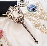 Старинная посеребренная щетка для волос, щетка с ручкой, серебрение, Англия, винтаж, фото 2