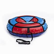 Тюбинг надувные санки ватрушка d 100 см серия Стандарт Красно - Голубого цвета для детей и взрослых