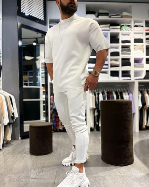 Чоловічий комплект: футболка і штани Туреччина (два кольори)