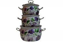 Набір посуду Epos Фіалка ситець 6 предметів емаль (№1600 Фіалка ситець)