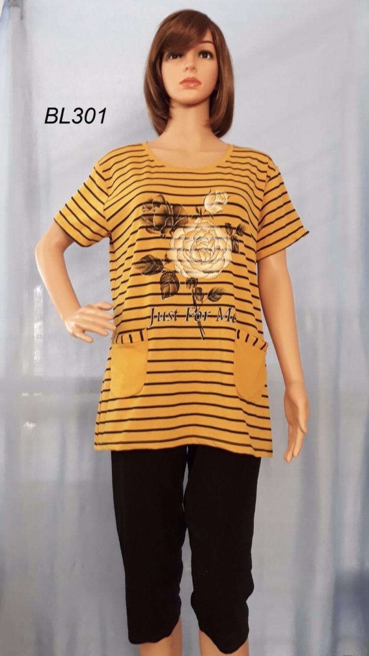 Костюм жіночий футболка + бриджі розмір полубатал 3XL-6XL (від 5 шт)
