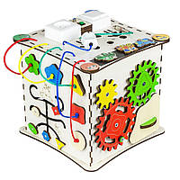 """Бизиборд GoodPlay """"Кубик"""", 25х25х25 см, с подсветкой"""
