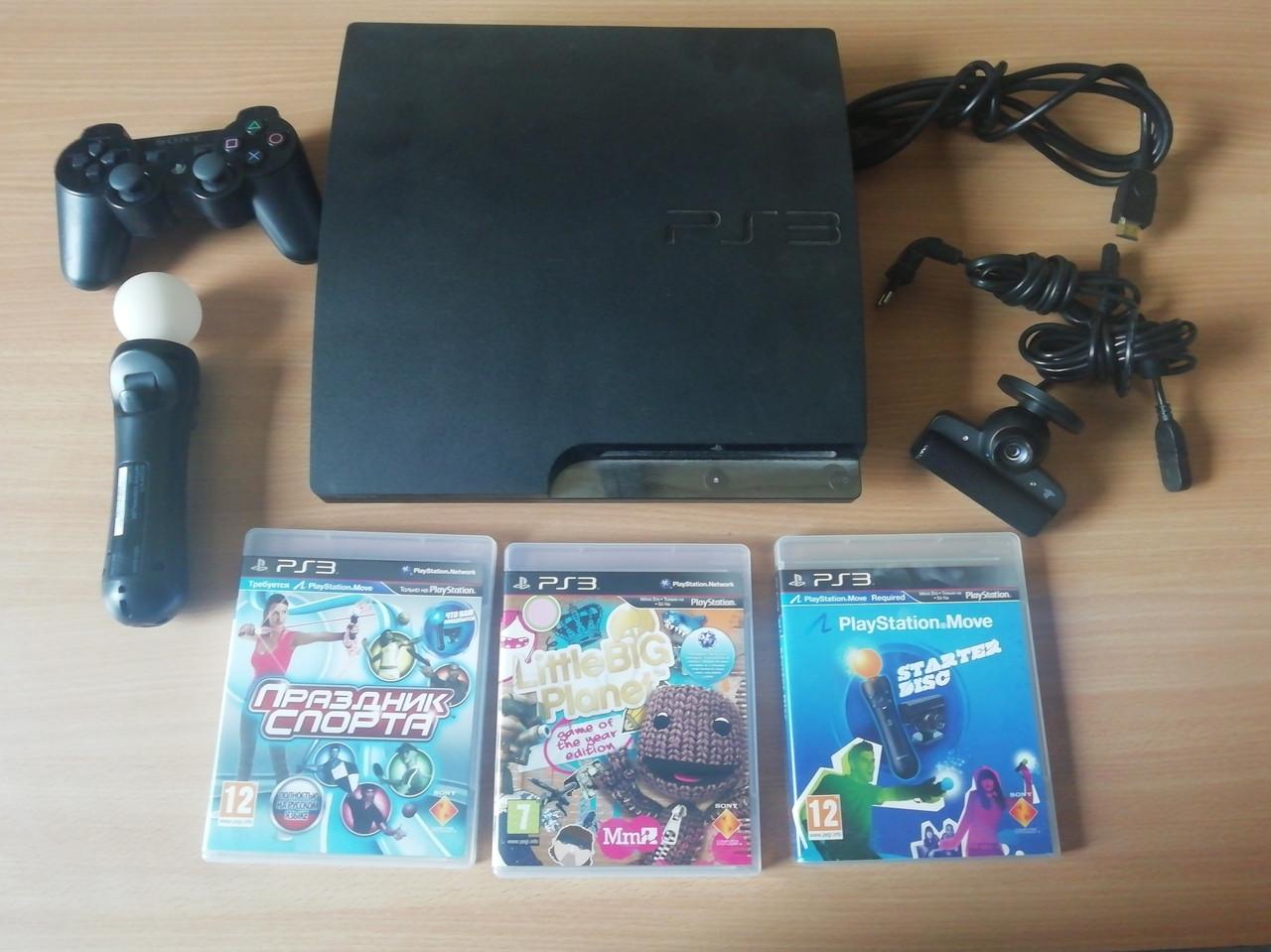 Игровая приставка Sony PlayStation 3 Slim 320GB Жирный комплект