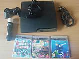 Игровая приставка Sony PlayStation 3 Slim 320GB Жирный комплект, фото 6