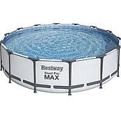 Каркасный бассейн Bestway 56438 (457х122 см) с картриджным фильтром и лестницей + защитное накрытие