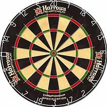 Дартс мішень сизаль Harrows Promatch Англія Ø45см ОРИГІНАЛ + фірмові дротики + лінія на підлогу