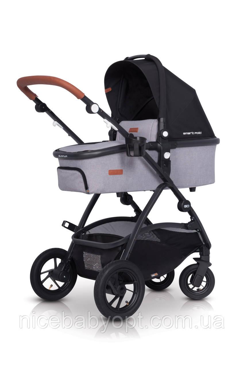 Детская универсальная коляска 2в1 EasyGo Optimo Air Grey Fox