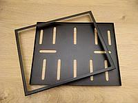 Рамка под мото номер без надписи ( Чёрная )