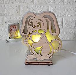 Соляна лампа Заєць Великий