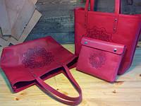 Женская кожаная сумка ручной работы, фото 1