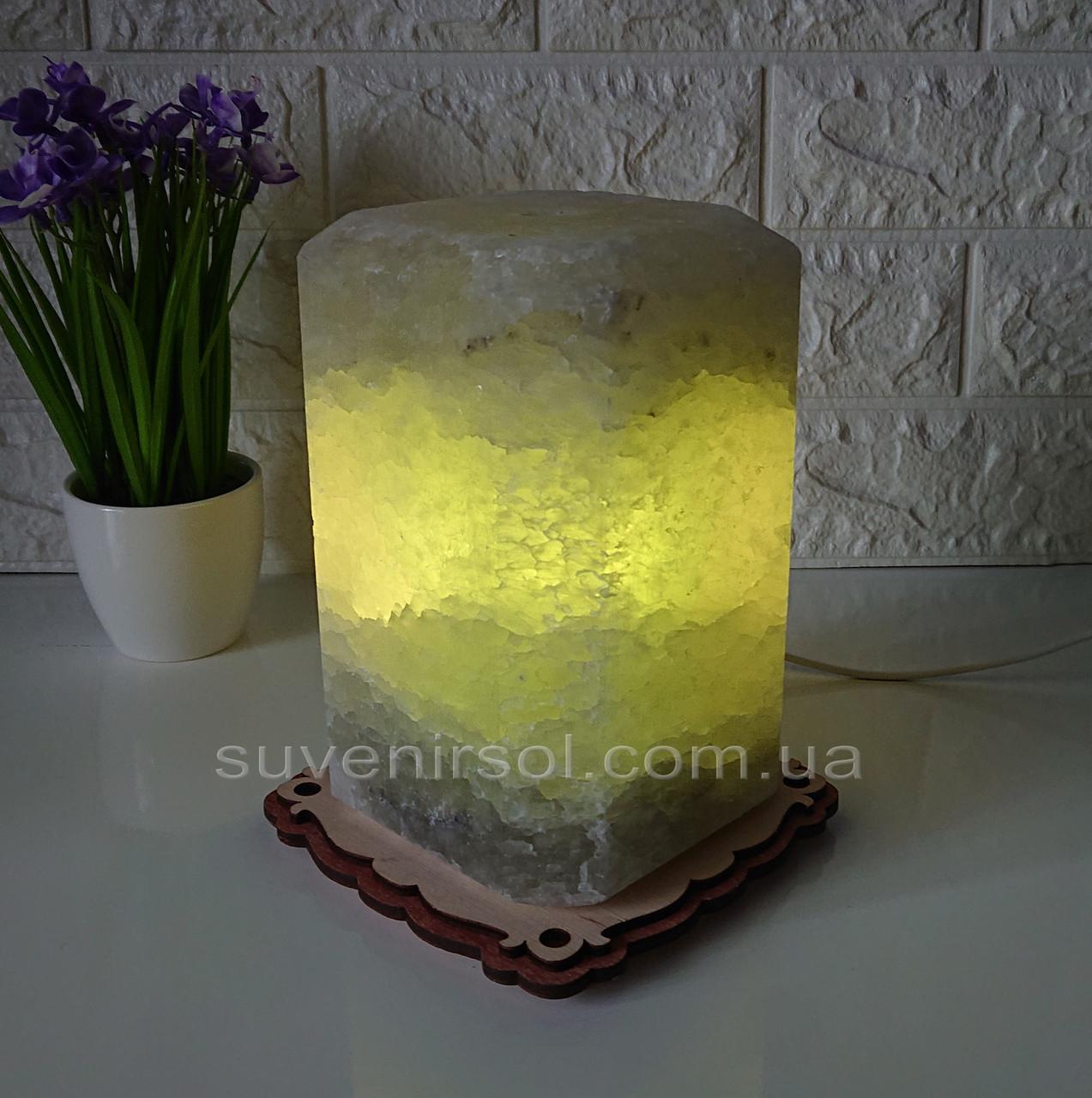 Соляной светильник Восьмиугольник