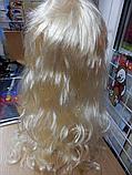 Парик карнавальний довгий білий блонді, фото 2