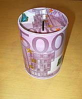 Металлическая копилка-прикол Евро, Доллар