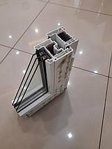 Двухстворчатое окно с фрамугой Rehau 60, фото 2