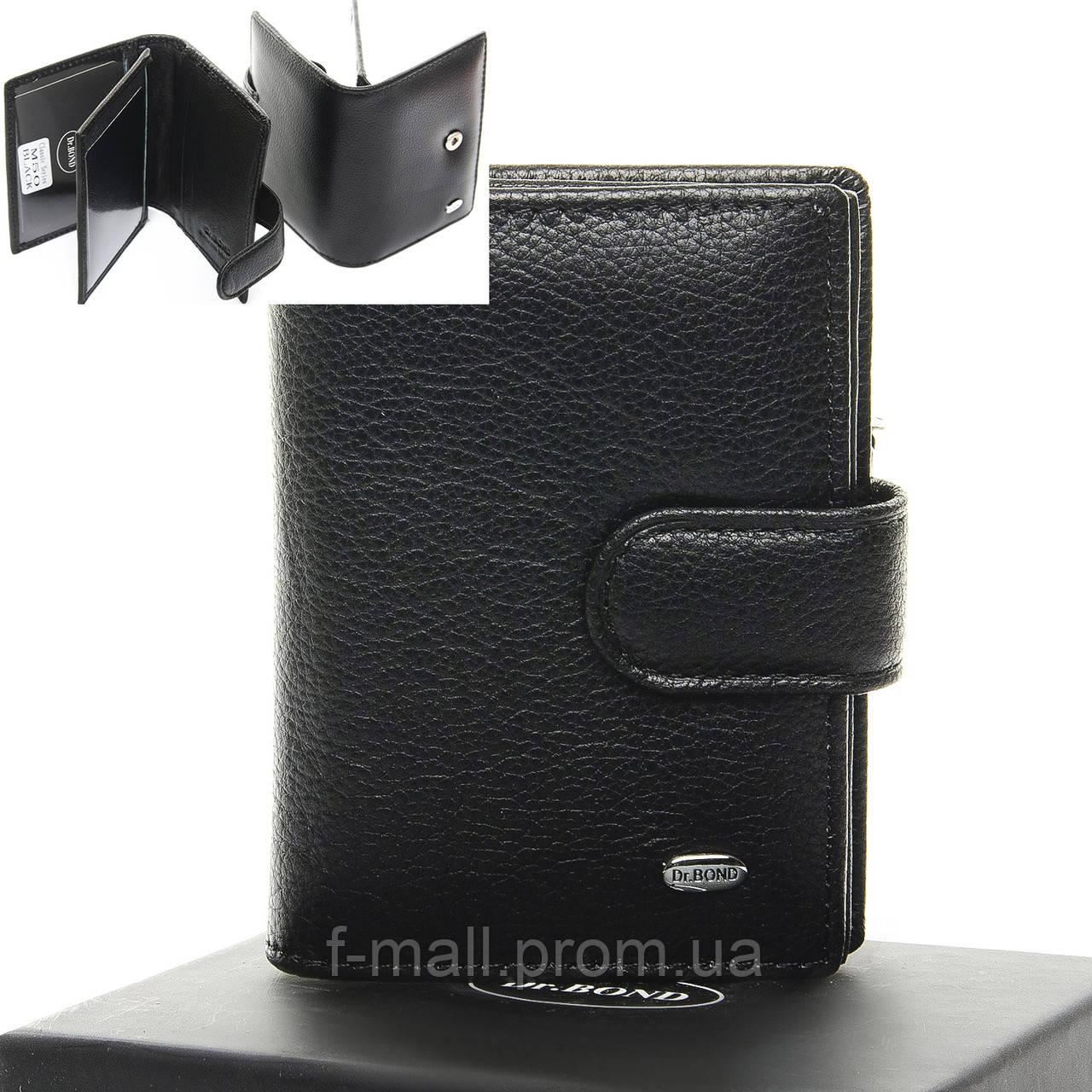 Кошелек мужской кожаный для прав DR. BOND черный (05-134)