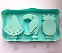 Форма для льоду/ морозива/ цукерок силіконова Кавун/Пелікан/Ананас YH710