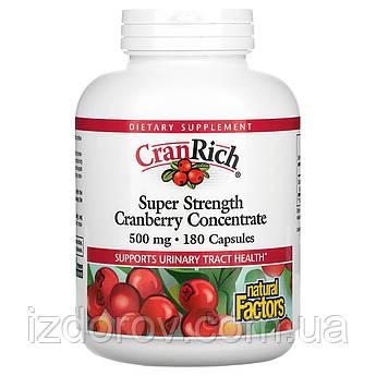Natural Factors, CranRich, Концентрат Журавлини, 500 мг, 180 капсул