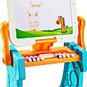 Столик - Мольберт 2 в 1 з конструктором та стільцем, фото 6