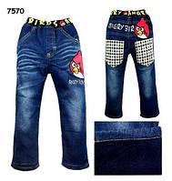 Теплые джинсы Angry Birds для мальчика. 95 см