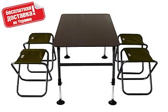 Комплект меблів для кемпінгу стіл і 4 стільця Novator SET-3 (120х65)