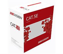 Кабель витая пара Hikvision (DS-1LN5EO-UU/E ) UTP cat 5E, 305м, Corton Box