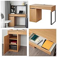 Письменный стол под дуб IKEA MICKE 105x50 см компьютерный столик, стол для ноутбука, рабочий ИКЕА МІККЕ