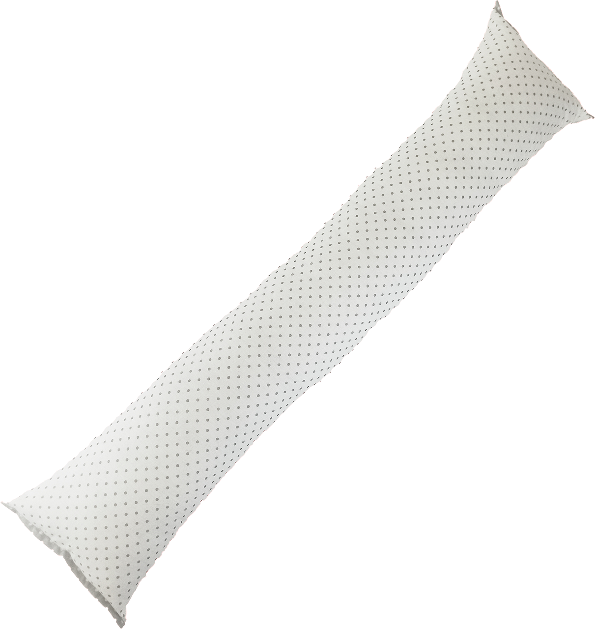 Подушка/обнимашка от сквозняков 90*15 см, (хлопок) (горошек серый на белом)