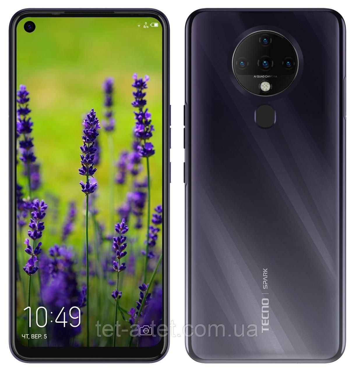 Смартфон TECNO Spark 6 (KE7) 4/128GB Comet Black (UA UCRF)