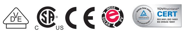 Сертификаты и соответствия TUV, DNV GL, RoHS, ISO 9001:2015