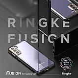 Чохол для Samsung Galaxy S21 Plus Ringke серії Fusion колір SMOKE BLACK (чорна димка), фото 8