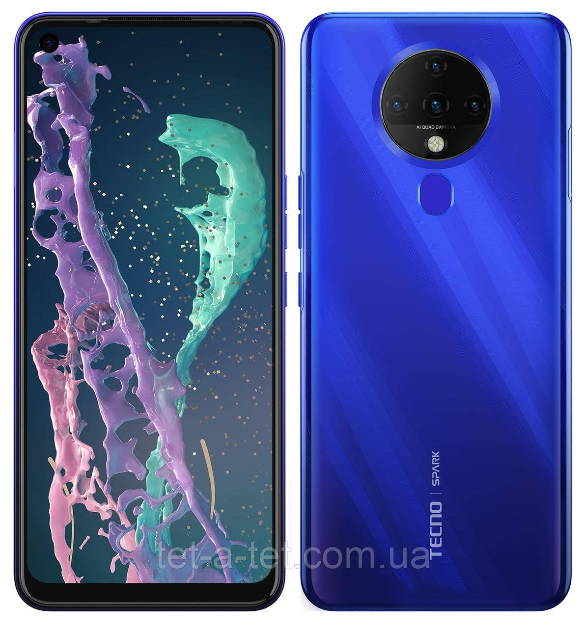 Смартфон TECNO Spark 6 (KE7) 4/128GB Ocean Blue (UA UCRF)