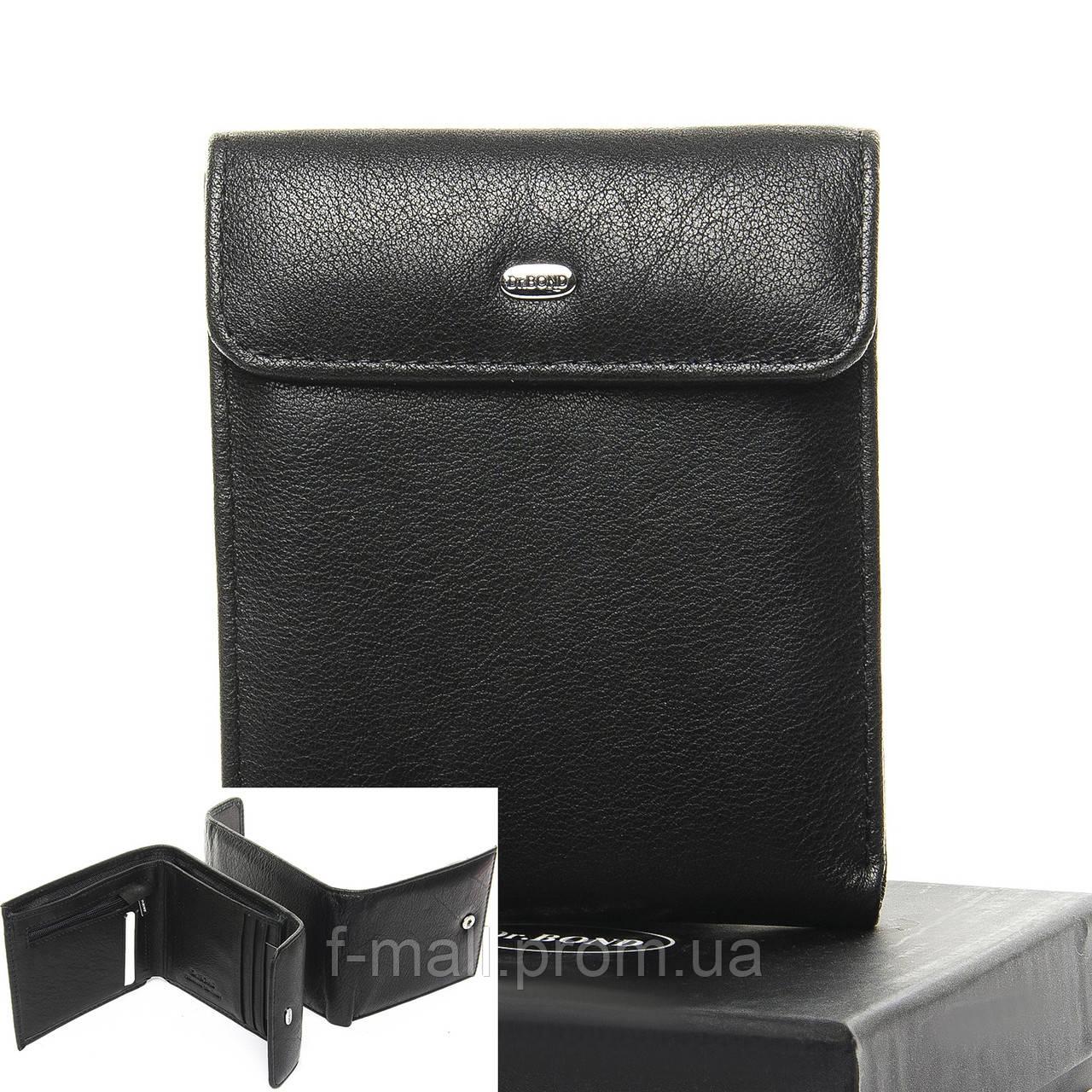 Кошелек портмоне  мужской кожаный DR. BOND черный (05-136)