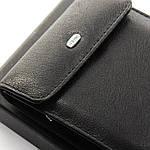 Кошелек портмоне  мужской кожаный DR. BOND черный (05-136), фото 4