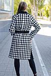 """Пальто-халат в """"гусинную лапку"""" чорно-біле Ricco Тетяна., фото 2"""